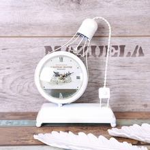 1Pc Creative gifts Hand DIY clock night light LED warm light metal products clockClock Boutique 18*25*7cm Home Decoration