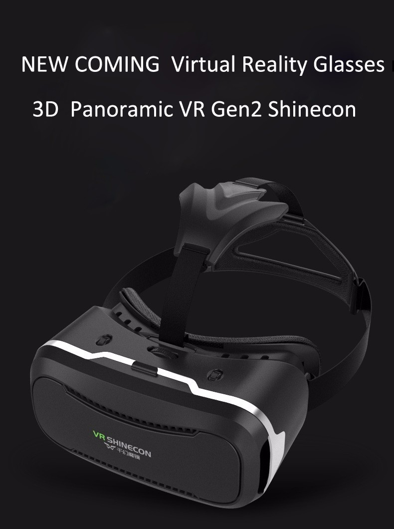 VR Shinecon 2.0 Google Cardboard VR BOX 2.0 Virtual Reality goggles VR 3D Glasses Immersive for 4.5-6.0 inch smartphones 24