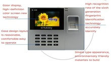 2.8 inch Color Biometric Fingerprint Time Attendance Clock Employee Payroll Recorder N-308 free Ship shipping