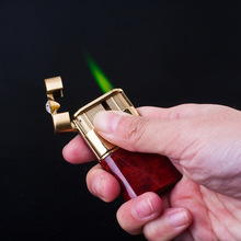 Top Quality Classic Metal Carving Crystal Lighter women Smoking Green Gas Lighters Men Fire Cigarette Lighter Gift Lighters-H452