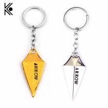 COOL Detective Comics Green Arrow Shape Alloy Pendent Keychain Superhero Metal Gift For Man Woman Fans High Quality TV Jewelry(China)