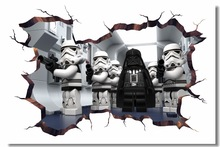 Custom Canvas Wall Mural Lego Star Wars Poster Lego Movie Darth Vader Stormtrooper Wallpaper 3D Wall Stickers Decorations #0780#