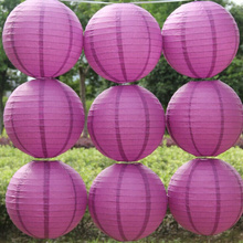 Free shipping 10pcs/lot 12''(30cm) purple Chinese paper lantern home decoration  wedding lanterns wedding suppliers