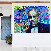 The Godfather for Alec monopoly Graffiti art print canvas for wall art decoration oil painting wall painting picture No framed