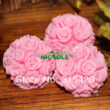 Roses Silicone Candle Mold 15.3x5.9x3.9 soaps cakes chocolate fondant forms available LZ0090 Nicole Factory Store(China)
