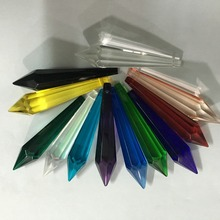 80mm Mixed Color 10/30pcs Crystal Icicle Prism Crystal Chandelier Parts U Drop Pendant Customer Can Choose Special Colors