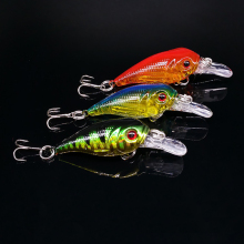 5G 5CM Fishing Lures Minnow swim rock Crank Bait Crankbait Bass Treble Hook Swing lure baits wobblers fishing pesca Lifelike