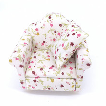 WOW-HOT Cute Doll Furniture Sofa With Cushions Child's Play Toy,2 Colors 1/12 BJD Chair Accessories for Doll Toys High Quality