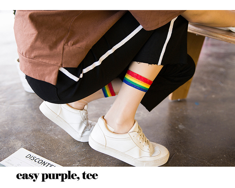 Transparent Rainbow Short Socks