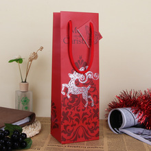 Merry Christmas Red Paper Gift Bag Assorted Portable Art Decor Hand Bag Christmas Gift Packing Wrap SD799