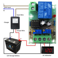 XH-M601 Battery Charging Control Board 12V Intelligent Charger Power Ccontrol Panel Automatic Charging/Stop Power