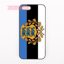 design cover case for iphone 4 4s 5 5s 5c se 6 6S 7 Plus iPod Touch 4 5 6 cases Coat of arms of Estonian flag National Emblem
