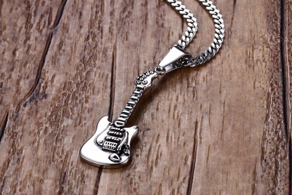 Men Guitar Pendant necklace 23