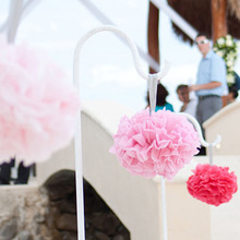 Buy 10PCS Handmade 4'', 10CM Tissue Paper Pom Poms Wedding Party Decoration Paper Flower Wedding Car Decoration /Garden Supplies for $1.34 in AliExpress store