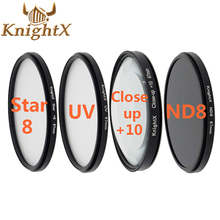 KnightX 52mm 58MM 67MM Graduated Color ND CPL UV Lens Filter Kit for Nikon canon D5100 D3300 D5300 D5200 D3100 D3200 SLR Camera(China)