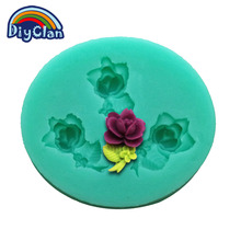 Buy DIY flowers cupcake clay silicone molds cake decorating flower rose fondant cake tools chocolate mold baking F0273HM35 for $1.12 in AliExpress store