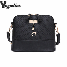 HOT SALE!2017 Women Messenger Bags Fashion Mini Bag With Deer Toy Shell Shape Bag Women Shoulder Bags handbag(China)