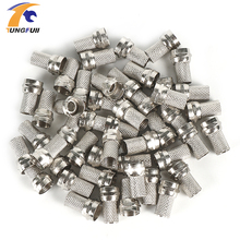 Drop shipping 100 Pcs Twist on RG6 F Type Coaxial Cable Connector Plugs Brass materials Singnal Line connector Copper Galvanized