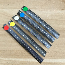 5 x 100pcs/Color=500pcs New 0603 Red/Green/Blue/White/Yellow SMD LED kit(China)