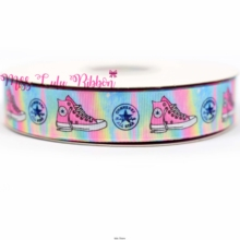 "7/8""22mm sports printed grosgrain ribbon shoe logo ribbon 38mm diy handmade hair bows party decoration 50 yards  6mm-75mm"
