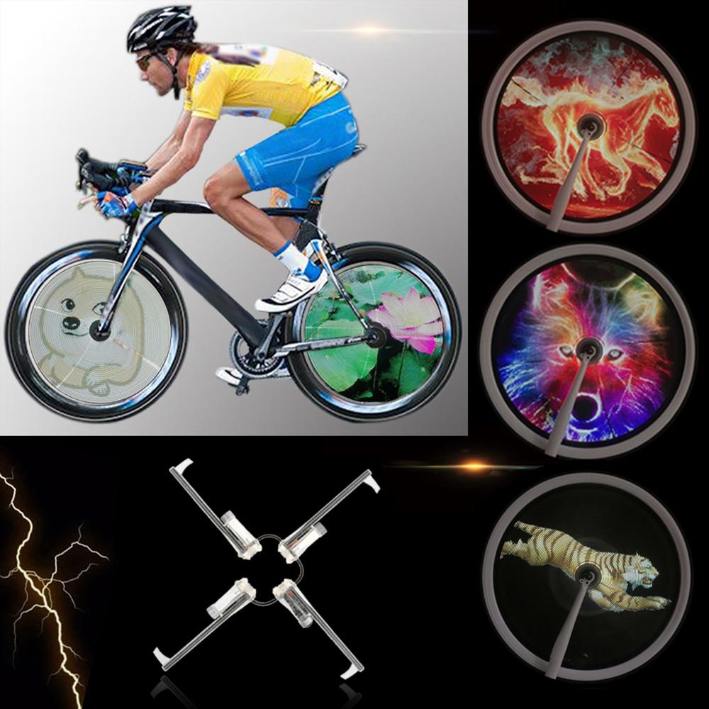 64LED Bikes Wheel Lights Waterproof DIY Programmable Bicycle Spoke Lights Kits