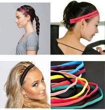1 pcs Fashion Modern 10 Colors Elastic Headband Softball Anti-slip Silicone Sports Hair Bands