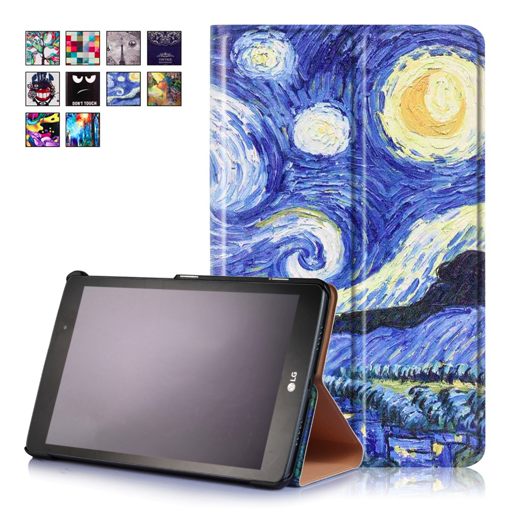 2017 Unique Painting Case For LG G Pad 3 V525 V522 Case Pad X8.0 V521 V521WG V520 Cover Magnet PU Leather Book Stand Slim Shell<br><br>Aliexpress