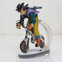 16cm Dragon Ball Z Figure Sun Gokou Riding Bicycle Desktop Real McCOY Series 02 PVC Action Figure Collectible Toy(China)