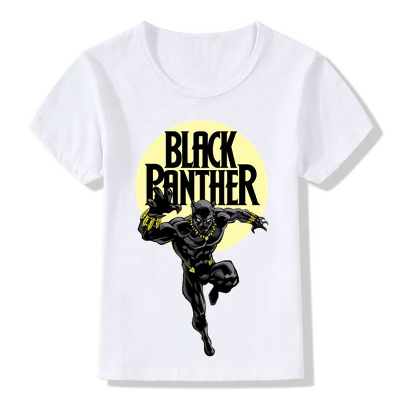 Black Panther Design Fashion Children's T shirt Boys Girls Funny Summer Tops T shirts Kids Cool Casual Clothes Baby,HKP2250