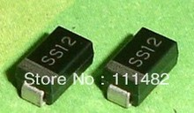 100 PCS SS12 DO-214AC 1N5817 SMA SMD DIODE 1A SURFACE MOUNT SCHOTTKY
