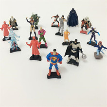 2017 new,10 pcs/set,super hero spiderman superman marvel Anime PVC Figure Children toys, Briquedos Birthday Gift,marvel figure