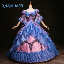 18th Century Royal Medieval Renaissance Costume Victorian Gothic Marie Antoinette Cosplay Party Trailer Ball Gown Prom Dresses