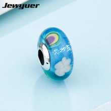 Buy 2018 Spring collection rainbow charms 925 sterling silver murano glass beads fit charm bead bracelets DIY fine jewelry BD167 for $7.49 in AliExpress store