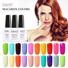 Elite99 Pure Gel Nail Polish Manicure Gloss Macaron Color Gel Varnish Long-lasting Soak Off UV Polish Gel Lacquer 10ML/PC