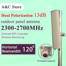 2.4g wifi antenna 13dBi dual polarization wifi antenna 120degree sectored panel outdoor antenna for ap sector N-female connector(China)