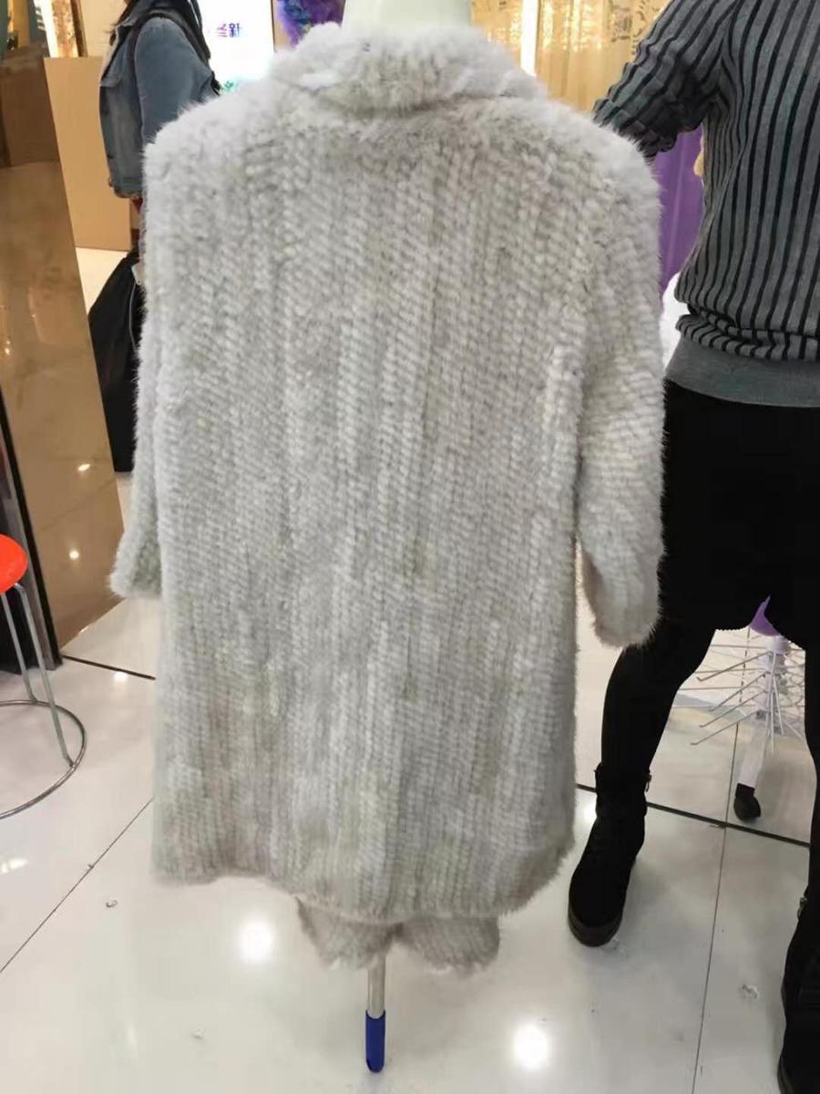 women luxury genuine real knitted mink fur shawls (6)