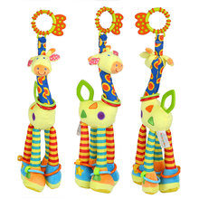 Giraffe Plush Toy Baby Rattle Toys Bed Hanging Sound Bell Dolls Infant Teether Kids Toys