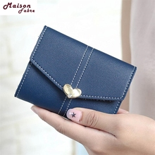 Maison Fabre Fashion Wallets Women Girls Clutch Heart Shaped Short Purse Wallet Card Holder Lovely 2017 Hot DropShipping OB14(China)