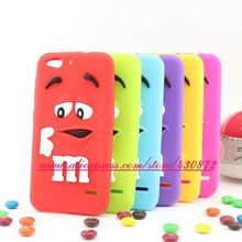 New 3D Silicon MM Chocolate Candy Rainbow Bean Cartoon Soft Phone Back Skin Case Cover for ZTE Blade S6 5.0 inch Q5