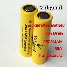 High drain Voligood IMR 18650 35AH-50AH 2500mAh 3.7V 3.6V lithium-ion Li ion Rechargeable Battery cells E-cigarettes/E-tools - China HoMy Electronics Factory store