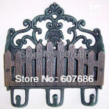 Antique Cast Iron Paper Letter Rack Decorative Coat & Hat Wall Hooks Holder Art Free Shipping Garden Home Wall Decoration Rural