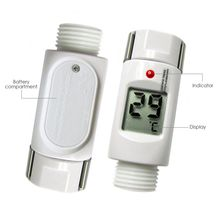 Loskii LW-202 Waterproof Digital LED Shower Thermometer with Alarm Alert Hot Cold Light for Baby Care