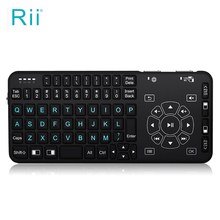 Rii Mini i4 2.4GHZ Wireless Handheld Remote Multimedia Touchpad Mini QWERTY Keyboard and Touchpad Combo Support Backlight For PC(China)