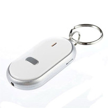 KUNIU LED Light Key Finder Locator Find Lost Keys Chain Keychain Whistle Sound Control + Battery