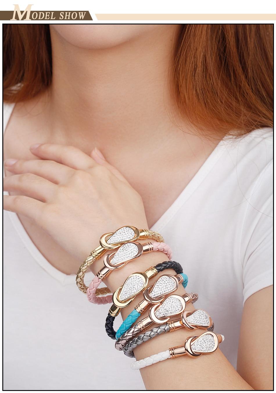 Women Leather Bracelet PU (7)