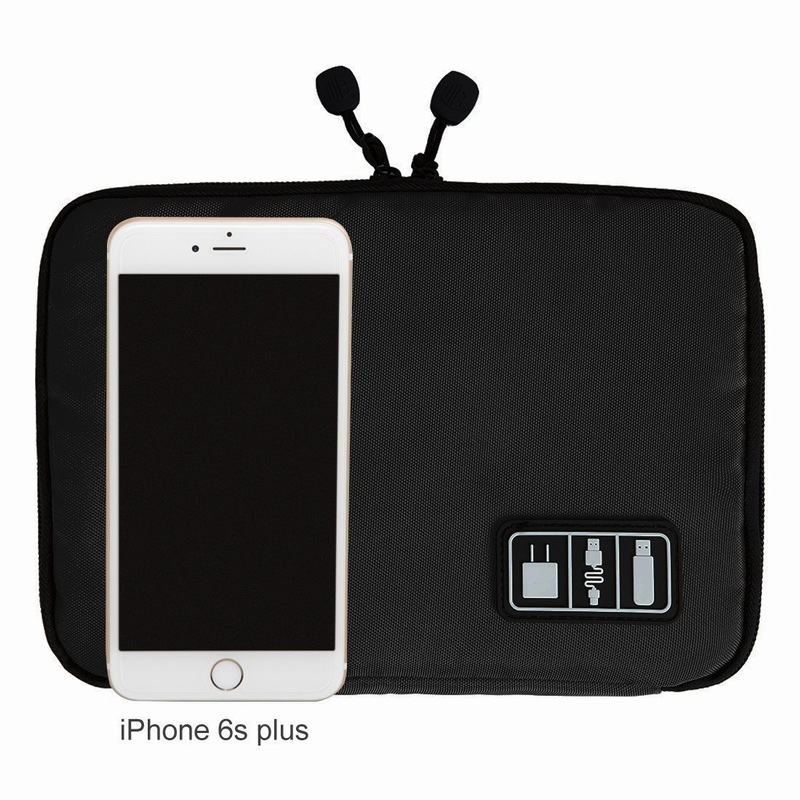 Portefeuille Cellphone Accessories Travel Bag Holder For iPhone 8 Plus 7 6S Cell phone USB Power Bank Cable Organizer Carry Case (3)