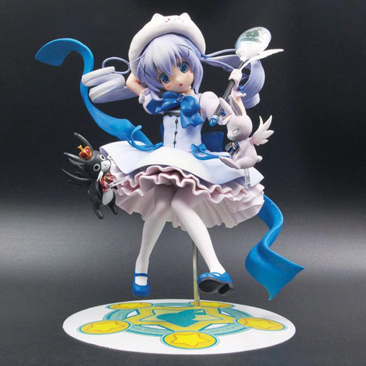 21CM Japanese anime figure Is the order a rabbit Kafuu Chino action figure collectible model toys for boys<br>