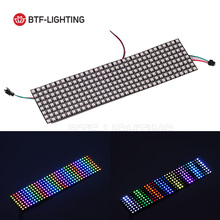 8*32 Pixel 256 Pixels WS2812B Digital Flexible LED Programmed Panel Screen Individually Addressable Full Color DC5V(China)