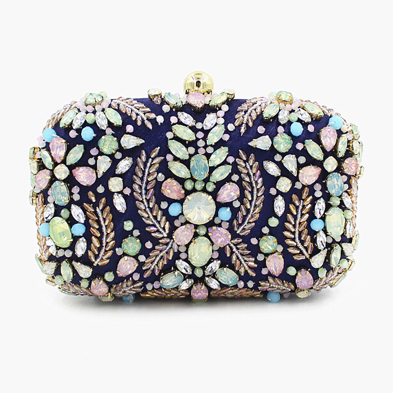 2016 women messenger bags brand fashion wallet Europe United States socialite heavy jewel studded clutch luxury nail beaded bag<br><br>Aliexpress