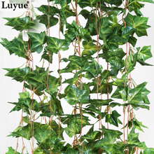 Lluyue Official Store Home decoration 2.6M Artificial Ivy Leaf Garland Plants Vine Fake Foliage Flowers Fake Green plant